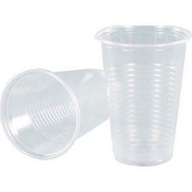 Одноразовий стакан пластик 180мл.прозорий термостійкий