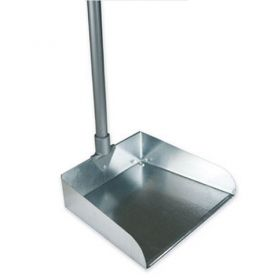 Совок для сміття металевий з довгою металевою ручкою