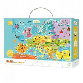 Пазл DODO Toys 0100 ел. Карта Европы 46х64см