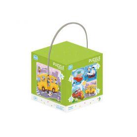 Пазл DODO Toys 4 шт. 0012, 0016,0020,0024 ел. Транспорт 22х22см