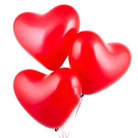 Куля повітряна Серце фольга, асорті 18см.