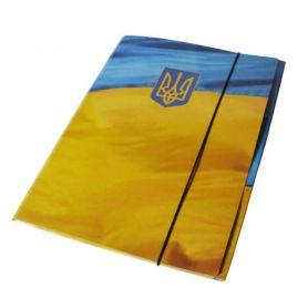 Папка А-4 на гумці картон РР покриття Флаг