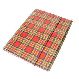 Папка А-4 на гумці картон РР покриття Шотландка