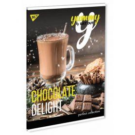 Зошит А-4 48арк. офс/кл. крейдований картон Chocolate delight Yes