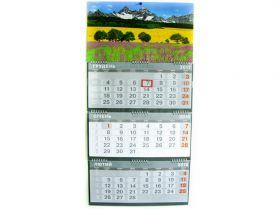 Календар настінний перекідний квартальний Поле 37х75см 3 пружини *Поліграфіст