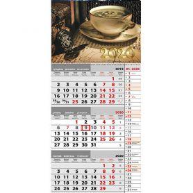 Календар настінний перекідний квартальний Ранкова кава 31х66см 1 пружина *ФП
